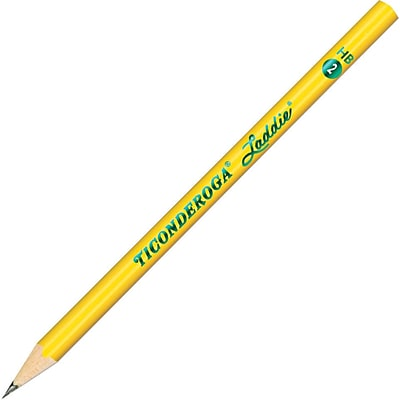 Dixon Ticonderoga® Laddie® Woodcase Pencils Without Eraser, #2 Soft, Yellow Barrel, Dozen