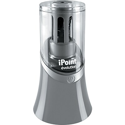 iPoint® KleenEarth® Evolution Desktop Electric Pencil And Crayon Sharpener, Gray