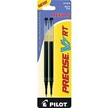 Pilot Precise® V7 RT Rolling Ball Pen Refills, Fine Point, 0.7mm, Black Ink, 2/Pk (PIL77278)