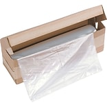 HSM of America Clear Plastic Shredder Bag; 34 gal; 34(H) x 18(W) x 15(D)