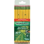 Ticonderoga® Pre-Sharpened #2 Pencil; Yellow Barrel; 30/Pack
