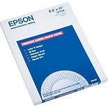 Epson® Ultra Premium Luster Photo Paper, White, 8 1/2(W) x 11(L), 50/Pack