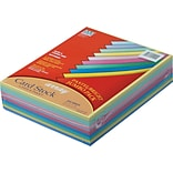 Pacon  Array  Card Stock, 8 1/2(L) x 11(W), Assorted Colors, 250 Sheets/Pack