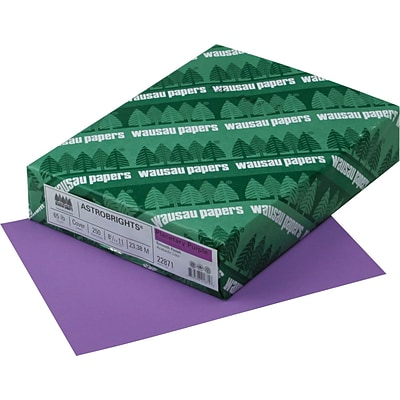 ASTROBRIGHTS Cardstock, 8 1/2 x 11, 65 lb., Planetary Purple, 250 sheets