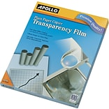 Apollo® Copier Transparency Film, Clear, 8 1/2(W) x 11(H), 100/Box