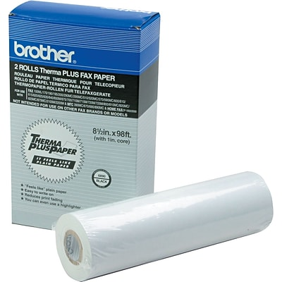 Brother® 6890 High Sensitivity ThermaPlus Fax Paper, White, 98L x 8 1/2W, 2/Pk