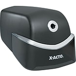 X-ACTO® Quiet Desktop Electric Pencil Sharpener; Black/Silver