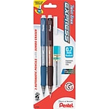 Pentel Twist-Erase® Express Mechanical Pencils, Medium Point 0.7mm, Assorted Barrel, 2/Pk