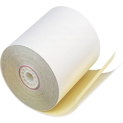 PM Company® Two-Ply Impact Printing Carbonless Paper Roll, 3W x 90L, 50/Ctn