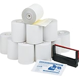 PM Company® Impact Printing Carbonless Paper Roll, Canary/White, 3(W) x 90(L), 10/Ctn