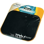 Fellowes  Polyester Mouse Pad, Nonskid Rubber Base, Solid Color, Black, 8(D)