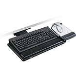 3M™ Positive Locking Keyboard Tray With Highly Adjustable Platform, Black, 19-1/2(W) x 10-1/2(D)