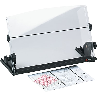 3M Plastic In-Line Document Holder, Black/Clear, 3H x 14W x 12D, 150 Sheet Capacity (DH630)