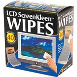 Read Right ® Alcohol-Free ScreenKleen Wipe, Unscented, 5(W) x 5(L), 40 Twin Packs/Box