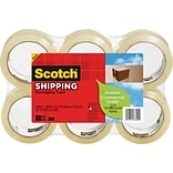 Scotch® Greener Commercial-Grade Shipping Tape, 1.88 x 49.2 Yards, 6/Pack
