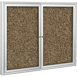 Best-Rite Enclosed Rubber-Tak Bulletin Board, Aluminum Frame, 4 x 3