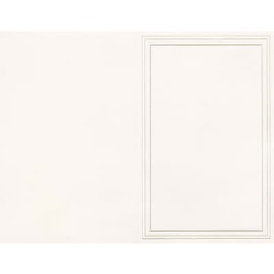 Great Papers® Triple Pearl Embossed Border Ivory Bulletin, 50/Pack