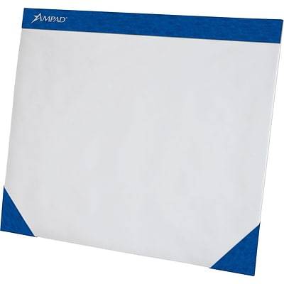 Ampad® Plain Desk Pads, Blue, 75 Sheets/Pad