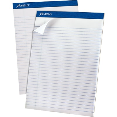 Ampad® Evidence® Ruled Pad 8-1/2x11-3/4, Legal Ruling, White, 50 Sheets/Pad, Recycled