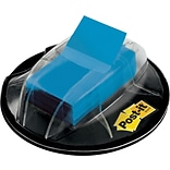 Post-it® Flags with Desk Grip Dispenser, 1 Wide, Blue, 200 Flags/Pack (680HVBE)
