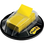 Post-it® Flags with Desk Grip Dispenser, 1 Wide, Yellow, 200 Flags/Pack (680HVYW)