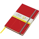 TOPS® Idea Collective™ Journals, 5-1/4x8-1/4, Wide Ruling, Red, 240 Sheets, Embossed