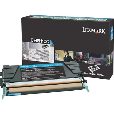Lexmark Cyan Toner Cartridge (C748H1CG), High Yield, Return Program