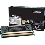 Lexmark Black Toner Cartridge, High Yield (X746H1KG)