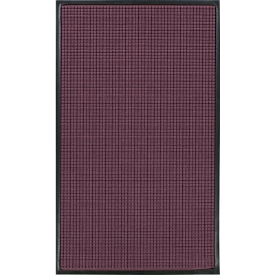 M + A Matting Waterhog™ Classic Mat, 4 x 6, Bordeaux, Cleated (200600046070)