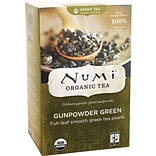 Numi® Gunpowder Green Organic Green Tea, Medium Caffeine, 18 Tea Bags/Box