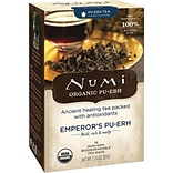 Numi® Emperors Organic Pu-erh Tea, Higher Caffeine, 16 Tea Bags/Box