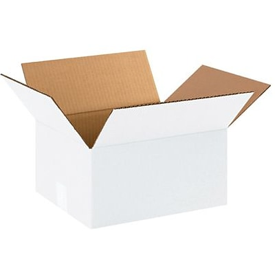 12(L) x 10(W) x 6(H) Shipping Boxes, 32 ECT, Brown, 25 /Bundle(12106W)