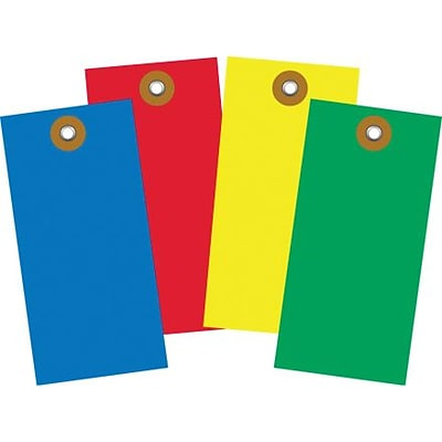 Tyvek® Shipping Tag; Yellow, 4 3/4 x 2 3/8, 100/Case