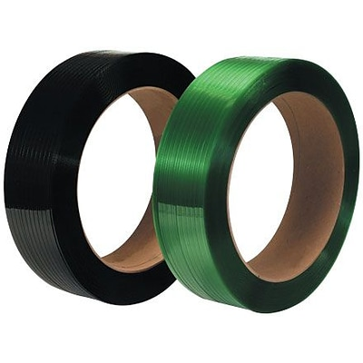 1/2 x 3250 - 16 x 3 Core - Staples Polyester Strapping - Smooth, 2/Pack