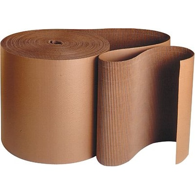 Staples Singleface Corrugated Roll, 4 x 250, Brown (SF04)