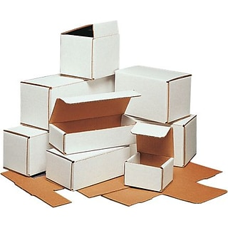 Partners Brand Corrugated Mailers, 6 x 6 x 5, White, 50/Bundle (M665)