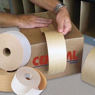 Central Kraft 250 Reinforced Tape, 3 x 375, 8/Case