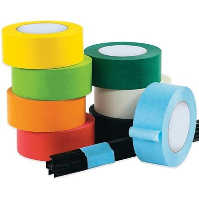 InterTape™ Industrial Masking Tape, Light Green, 3/4 x 60 yds, 48 Rolls