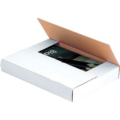 11 1/8 x 8 5/8 x 4 -  White Easy-Fold Mailer, 50/Bundle