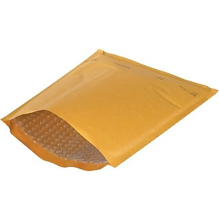 Quill Brand® 6 x 10 Kraft #0 Heat-Seal Bubble Mailers, 25/Case
