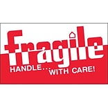 Tape Logic Fragile - Handle With Care! Shipping Label, 3 x 5, 500/Roll