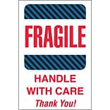 Tape Logic Fragile - Handle With Care Thank You! Shipping Label, 4 x 6, 500/Roll