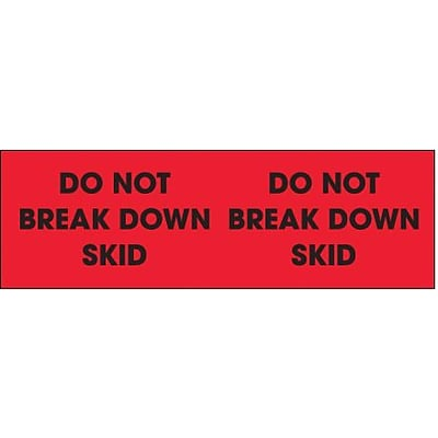 Tape Logic Do Not Break Down Skid Shipping Label, 3 x 10, 500/Roll