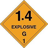 4x4 1.4 - Explosive - G 1 Shipping Label