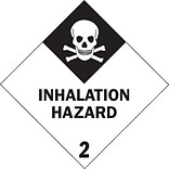 4x4 Inhalation Hazard - 2 Shipping Label