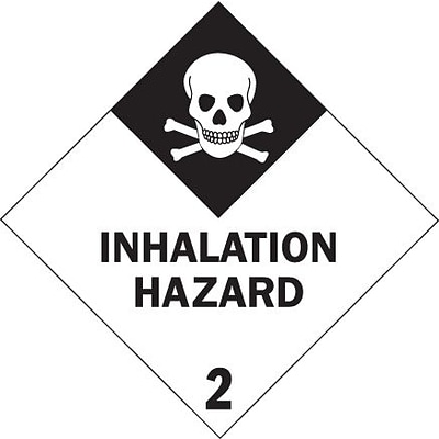 Tape Logic Inhalation Hazard - 2 Tape Logic Shipping Label, 4 x 4, 500/Roll
