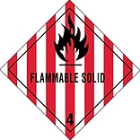 4x4 Flammable Solid - 4 Shipping Label