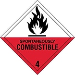 Spontaneously Combustible-4 Shipping Label
