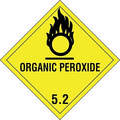 Tape Logic Organic Peroxide - 5.2 Tape Logic Shipping Label, 4 x 4, 500/Roll