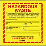 Hazardous Waste-New Jersey Shipping Label